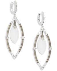 Jude Frances - Encore Sterling Silver Open Marquis Earrings - Lyst