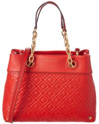 e4becf7fbc76 Tory Burch - Fleming Small Leather Tote - Lyst