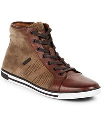 Kenneth Cole - High-top Leather Trainers - Lyst