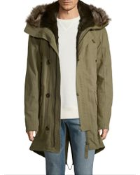 Yves Salomon - Attached Hood Coat - Lyst