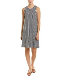 Three Dots - Striped Tank Dress - Lyst