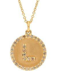 Nephora - 18k 0.30 Ct. Tw. Diamond Letter L Initial Necklace - Lyst