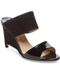 Paul Andrew - Paavo Leather & Suede Wedge Sandal - Lyst