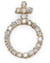 Bianca Pratt | Pave Diamonds Female Symbol Earrings | Lyst