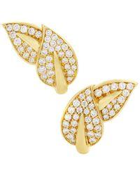 Heritage Van Cleef & Arpels - Van Cleef & Arpels 18k 2.20 Ct. Tw. Diamond Earrings - Lyst