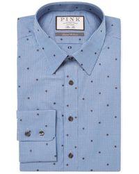 Thomas Pink - Linden Spot Cotton Dress Shirt - Lyst