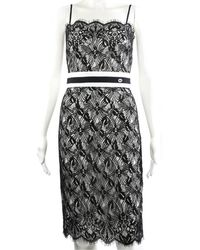Chanel - Spring 2017 Black Lace Act 1 Shift Dress, Size Fr 34 - Lyst