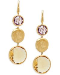 Marco Bicego - Citrine, Amethyst And 18k Yellow Gold Drop Earrings - Lyst