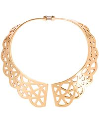 Oscar de la Renta - Scalloped Web Necklace - Lyst