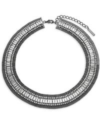 Saks Fifth Avenue - Faceted Crystal Collar Necklace - Lyst