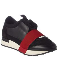 Balenciaga Race Runner Leather & Suede Trainer