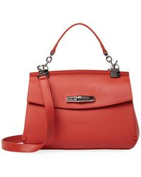Longchamp - Pebbled Leather Crossbody - Lyst