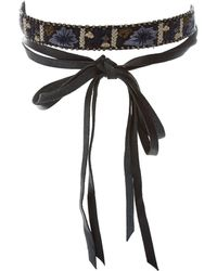 Chan Luu | Floral Embroidered Choker | Lyst