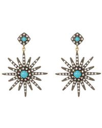 Adornia - 14k Over Silver & Silver Crystal Drop Earrings - Lyst