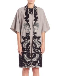 Natori - Embroidered Wide Sleeve Topper - Lyst