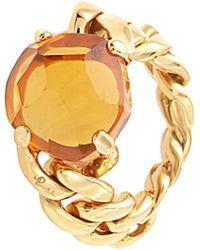 Pomellato - 18k Rose Gold Quartz Ring - Lyst