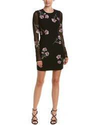 2f9cce05ef1 Cinq À Sept - Woman Anna Mesh-paneled Embroidered Cady Mini Dress Black -  Lyst