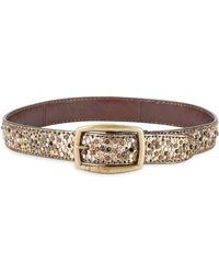 Frye - Deborah Embellished Leather Belt - Lyst