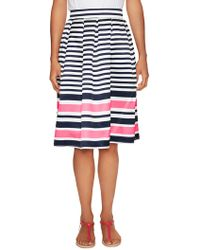 Elorie - Bold Stripe Pleated Skirt - Lyst