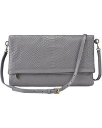 Gigi New York - Carly Exotic Leather Convertible Clutch - Lyst