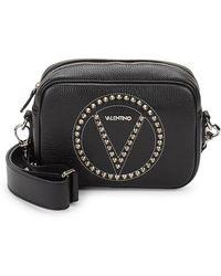 Valentino By Mario Valentino - Mia Embellished Leather Crossbody Bag - Lyst