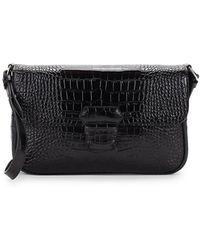 Armani - Mini Leather Embossed Crossbody Bag - Lyst