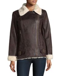 Vince Camuto - Asymmetrical Textured Faux Jacket - Lyst