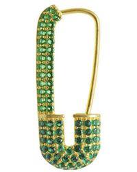 Gabi Rielle 22k Over Silver Cz Earrings - Green