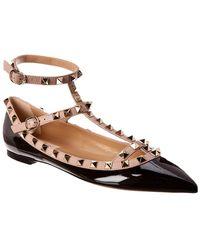 Valentino Rockstud Caged Patent Ballerina Flat - Multicolour