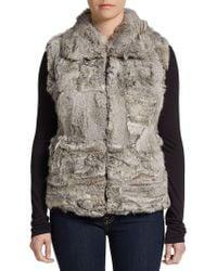 Surell - Zip-front Rabbit Fur Vest - Lyst