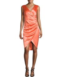Kay Unger - Satin Sheath Dress - Lyst