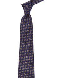 Ledbury - Dark Blue Silk Tie - Lyst