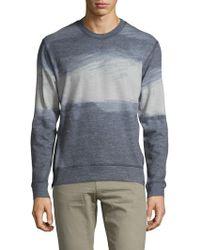 J Brand - Potter Side Zipped Crewneck Sweatshirt - Lyst