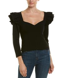 Cinq À Sept Dahlia Top - Black