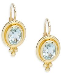 Temple St. Clair - Aquamarine Oval Earrings - Lyst