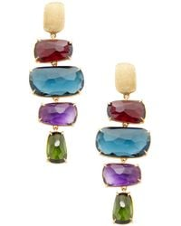 Marco Bicego - Murano 18k Yellow Gold & Gemstone Earrings - Lyst