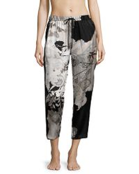 Natori - Yuzen Floral Silk Trousers - Lyst