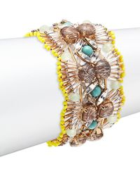 Tataborello - Crystal Studded Fan Bracelet - Lyst