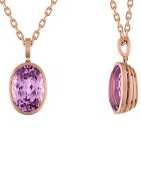Tate - 18k Rose Gold 11.75 Ct. Tw. Kunzite Necklace - Lyst