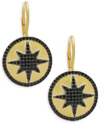 Freida Rothman - Crystal & Sterling Silver Indigo Armour Earrings - Lyst