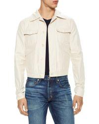 Tom Ford - Spread Collar Cotton Denim Jacket - Lyst