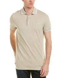Burberry - Check Placket Cotton Pique Polo Shirt - Lyst