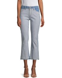 Derek Lam - Gia Cropped Flare Cotton Jeans - Lyst