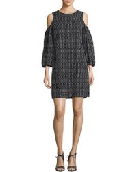 Maggy London - Lace Balloon Sleeve Shift - Lyst