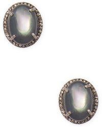 Bavna - Sterling Silver Mother Of Pearl Earrings - Lyst