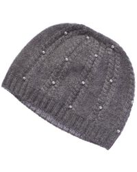 Forte - Cashmere Hat With Pearls - Lyst