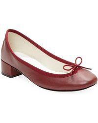 Repetto - Camille Ballard Leather Block Heel Pumps - Lyst