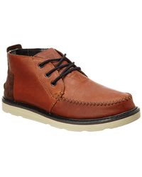 TOMS - Men's Leather Chukka Boot - Lyst