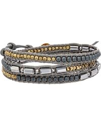 Chan Luu - Hematite & Crystal Wrap Bracelet - Lyst