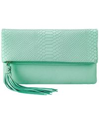 Gigi New York - Python-embossed Stella Clutch - Lyst